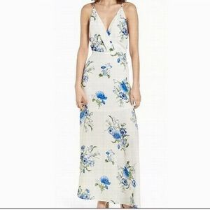 NWT Lush Blue Floral Ivory Maxi Dress